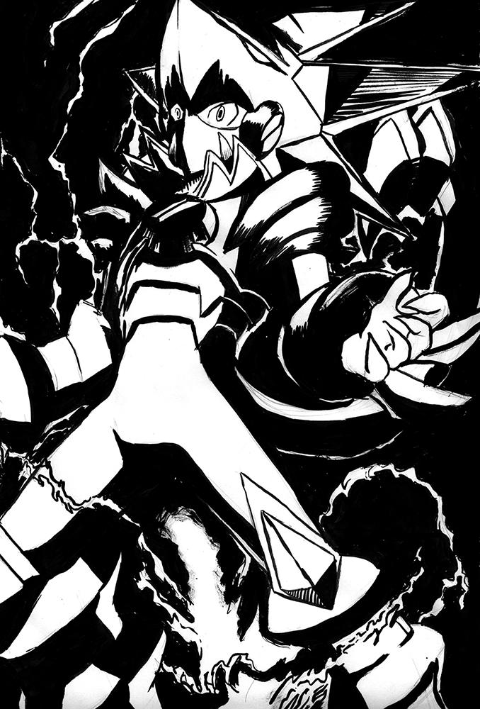 Megaman.EXE Gregar Beast Form by Megaman-EX