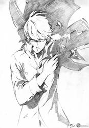 Persona 4 - Protagonist/Yu Narukami Pre-ink pencil