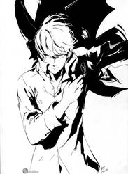 Persona 4 Protagonist/Yu Narukami Inked by Megaman-EX