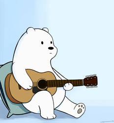 Ice Bear playing Guitar