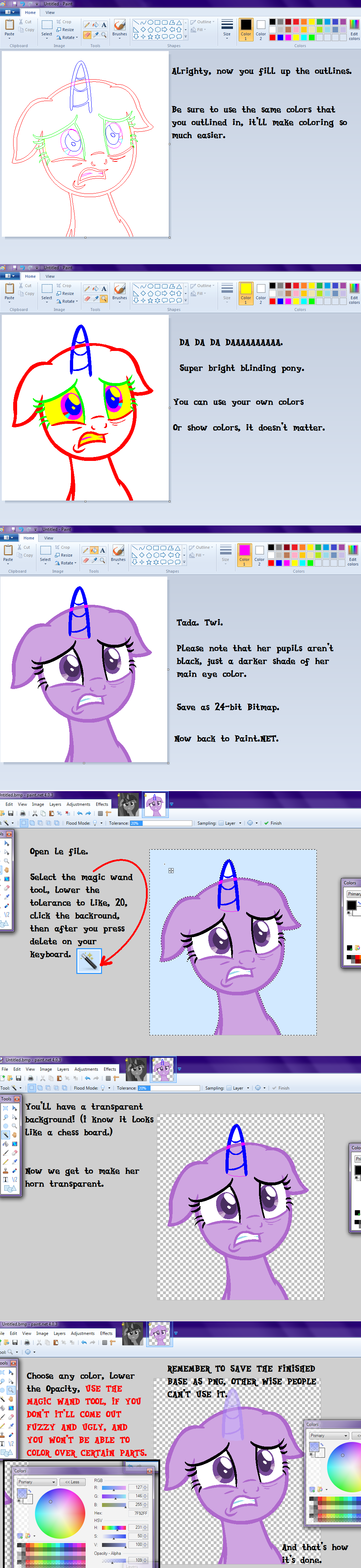Shitty mlp base making tutorial part three by sakyas bases for How to make a good painting