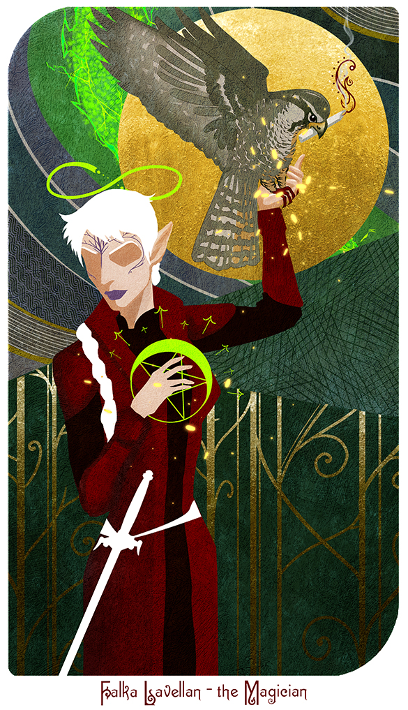 Falka Lavellan - the Magician tarot by MightyRaccoon on DeviantArt