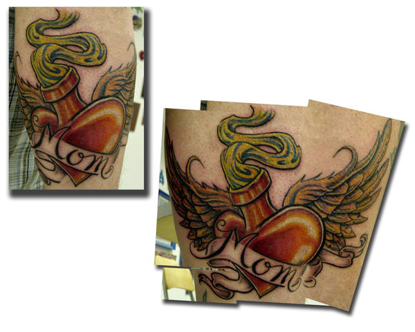 mom heart tattoos. Heart Tattoo Designs mom heart