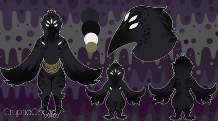 [ADOPTABLE] Raven Cryptid Adopt [OPEN] NOW $25 by M-O-T-H-M-A-N