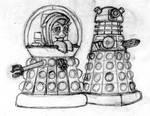 Doodle: Fluttershy: Emperess of the Daleks