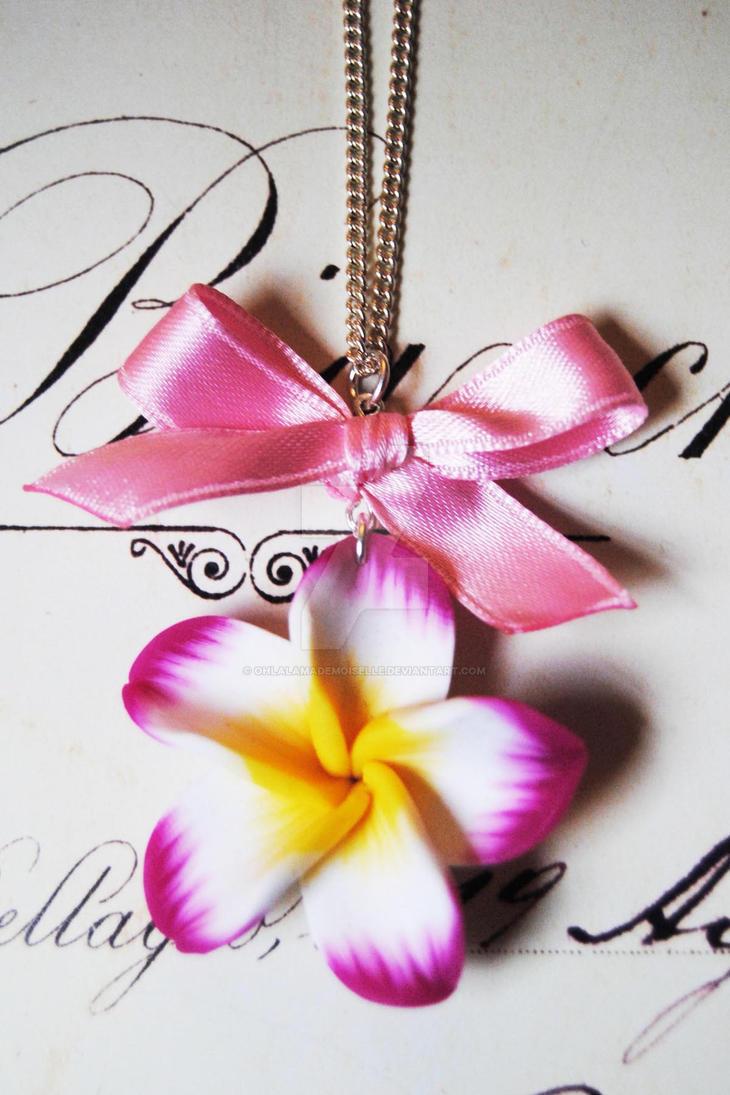 Hawaiian Flower Necklace By Ohlalamademoiselle On Deviantart