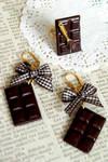 Chocolate Handmade polymer clay jewelry set