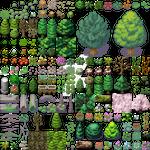 Wilderness Tileset  For RPG's   Easy Import by kodiking