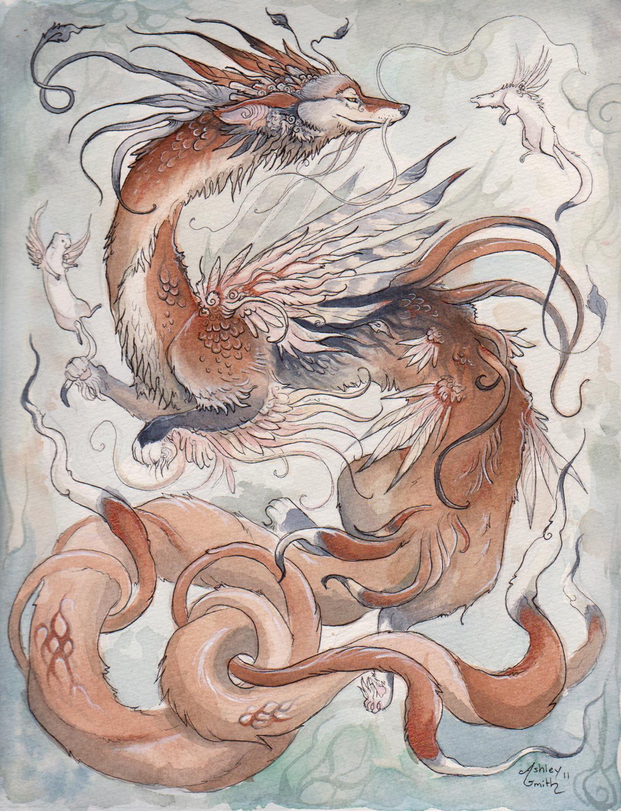 The Coyote Dragon by Kitsune-Seven
