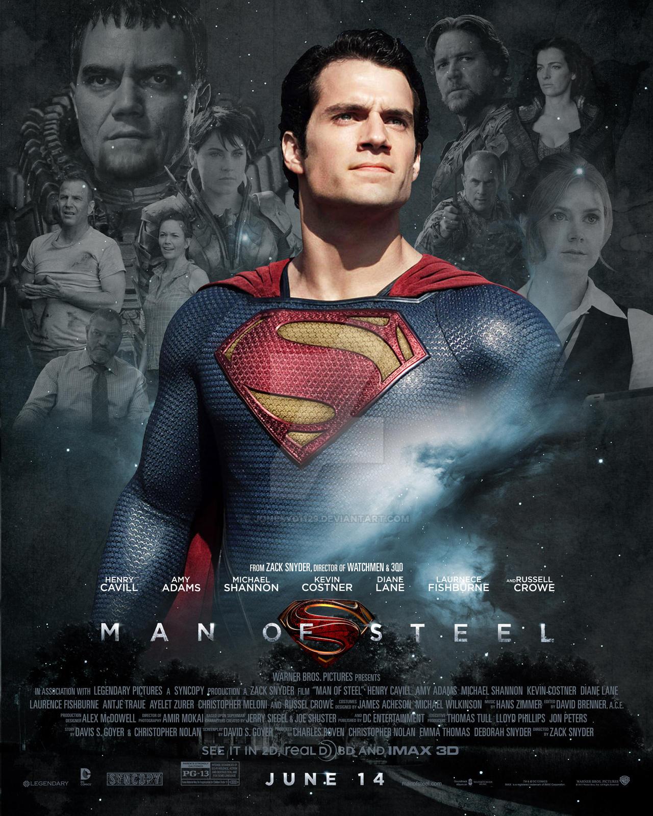 Man of Steel Poster 1 by jonesyd1129 on DeviantArt