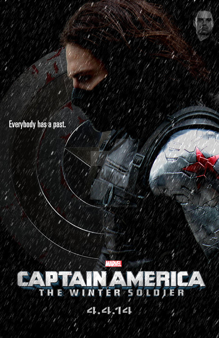 Captain America: The Winter Soldier Teaser Poster by jonesyd1129