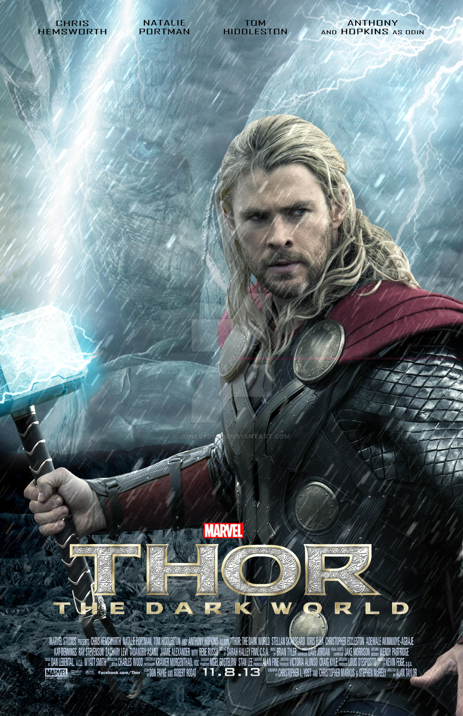 thor the dark world teaser poster by jonesyd1129 on
