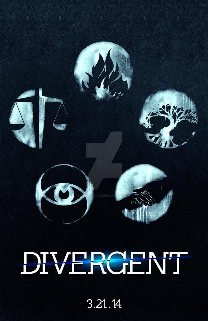 Divergent Book Cover Drawing ~ Divergent poster v by jonesyd on deviantart