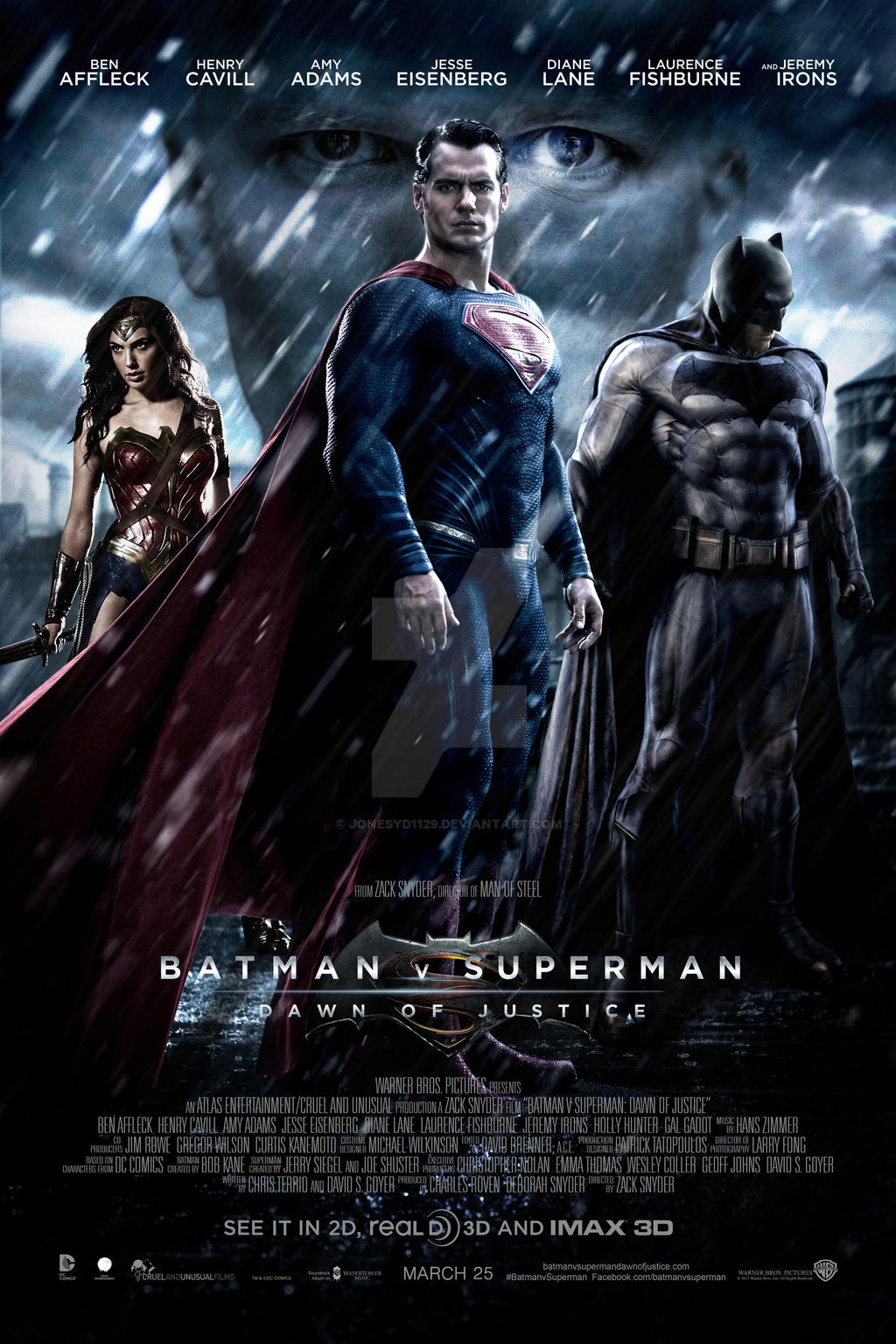 póster de la película Batman vs Superman