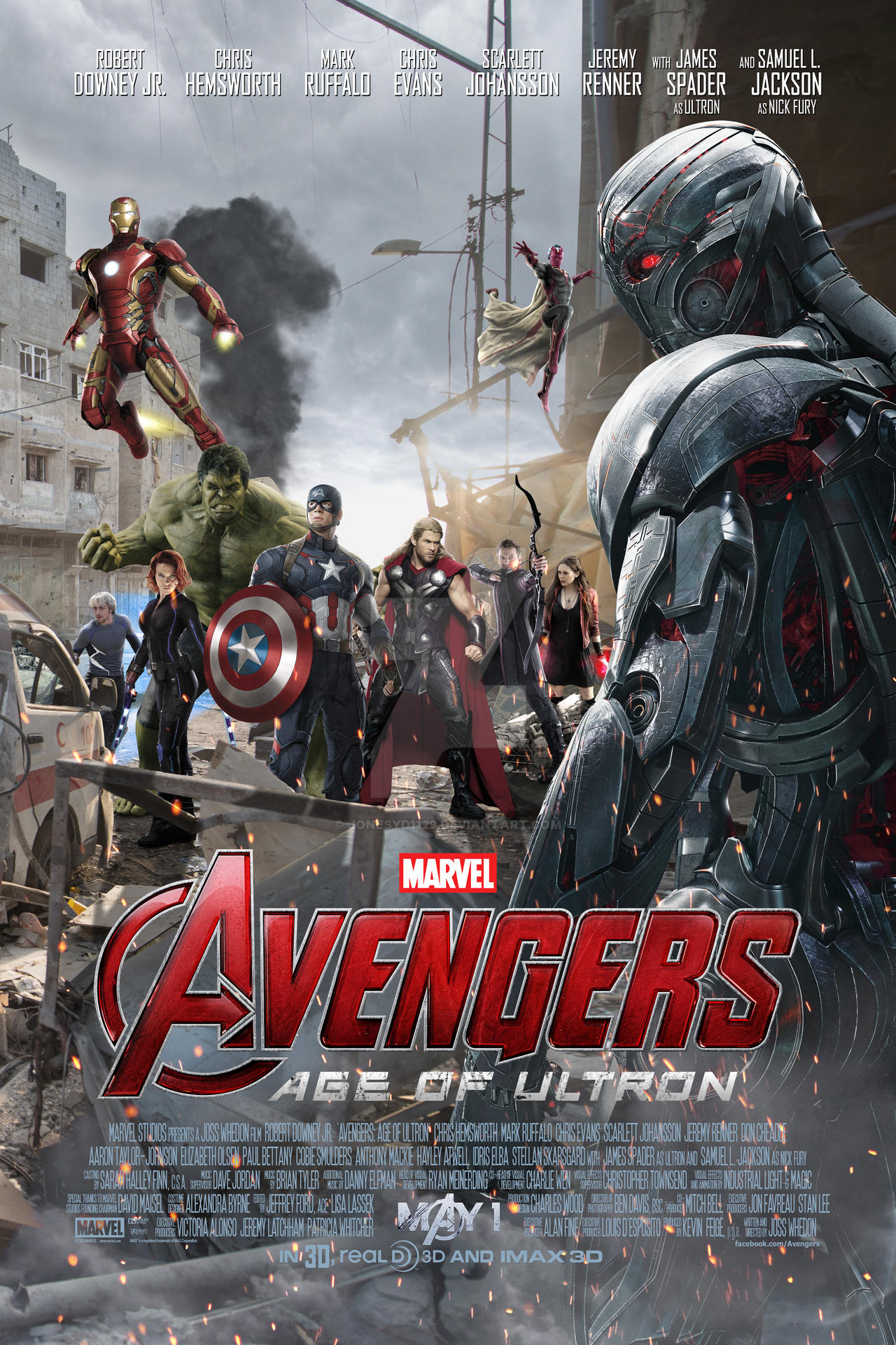 Avengers Age Of Ultron By Iloegbunam On Deviantart: Avengers: Age Of Ultron Poster 1 By Jonesyd1129 On DeviantArt