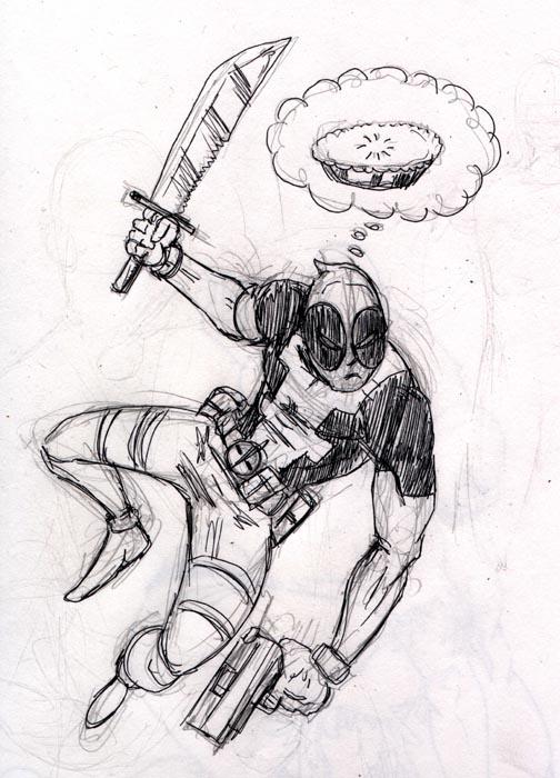 Quick Sketch Deadpool by HARDRICKART