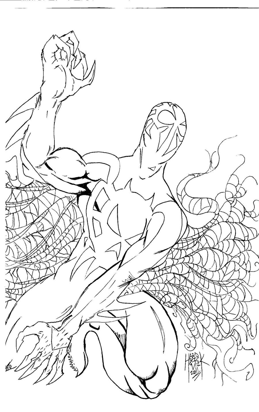 Spiderman 2099 2 by hardrickart on deviantart for Spider man 2099 coloring pages
