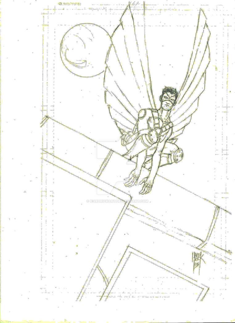 Robin pinup by HARDRICKART