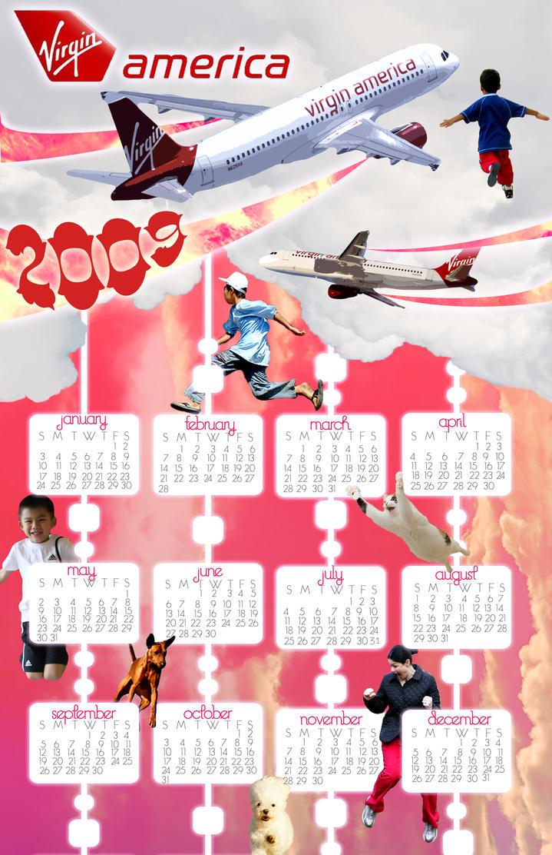 Virgin America Calendar by MrSunnyBlack