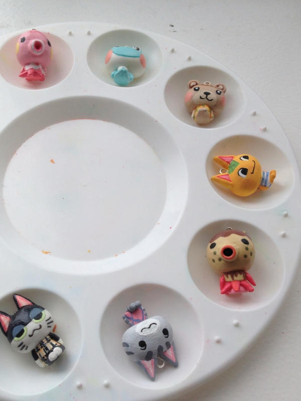 Animal crossing polymer charms by carrot-milk