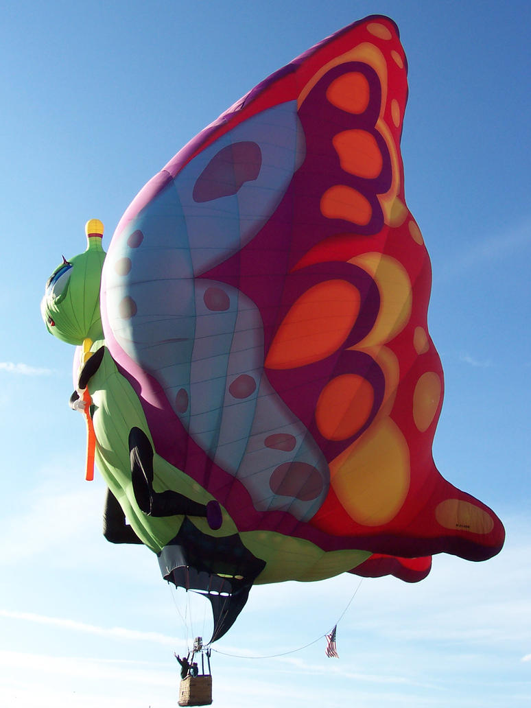 Butterfly in the Sky: Balloon Fiesta 2011 by katerirose