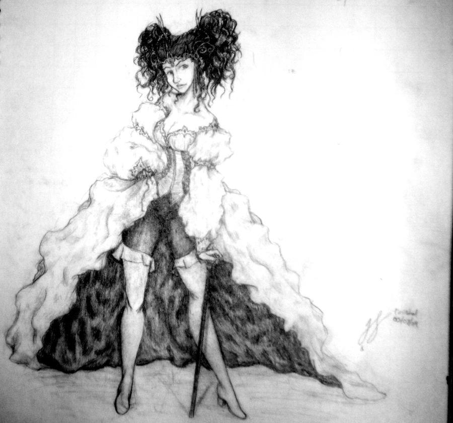 Goblin Queen Sarah by NessaTheCoat-rack