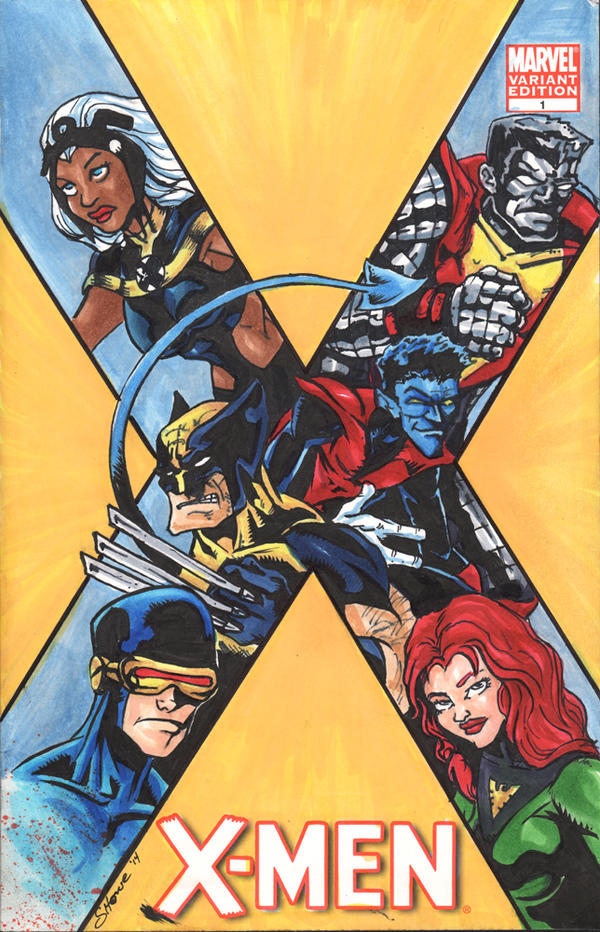 X-men Sketch Cover by showe