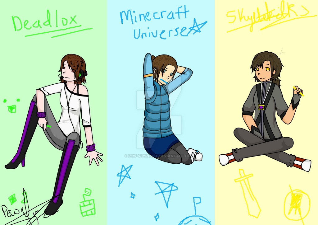deadlox minecraft universe and skydoesminecraft by pew