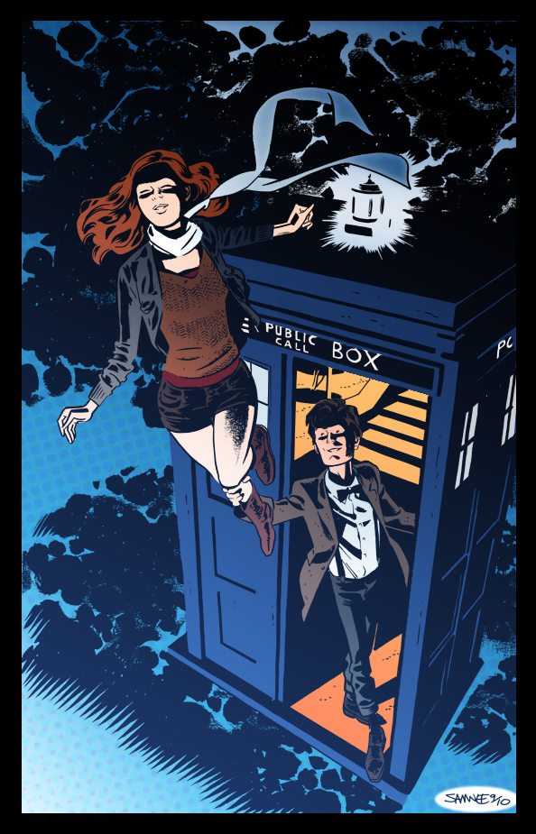 Doctor Who- coloring practice by seph-hunter