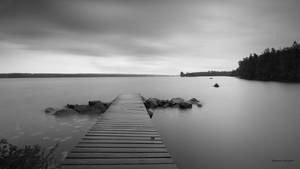 at the lake and long shutter time
