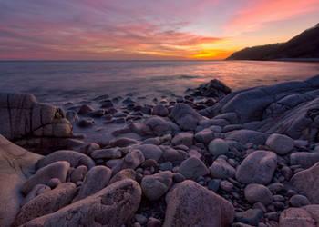 Sunset at Kullaberg Sweden by roisabborrar