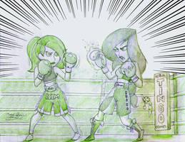 Kim vs Shego Box by tingocomics
