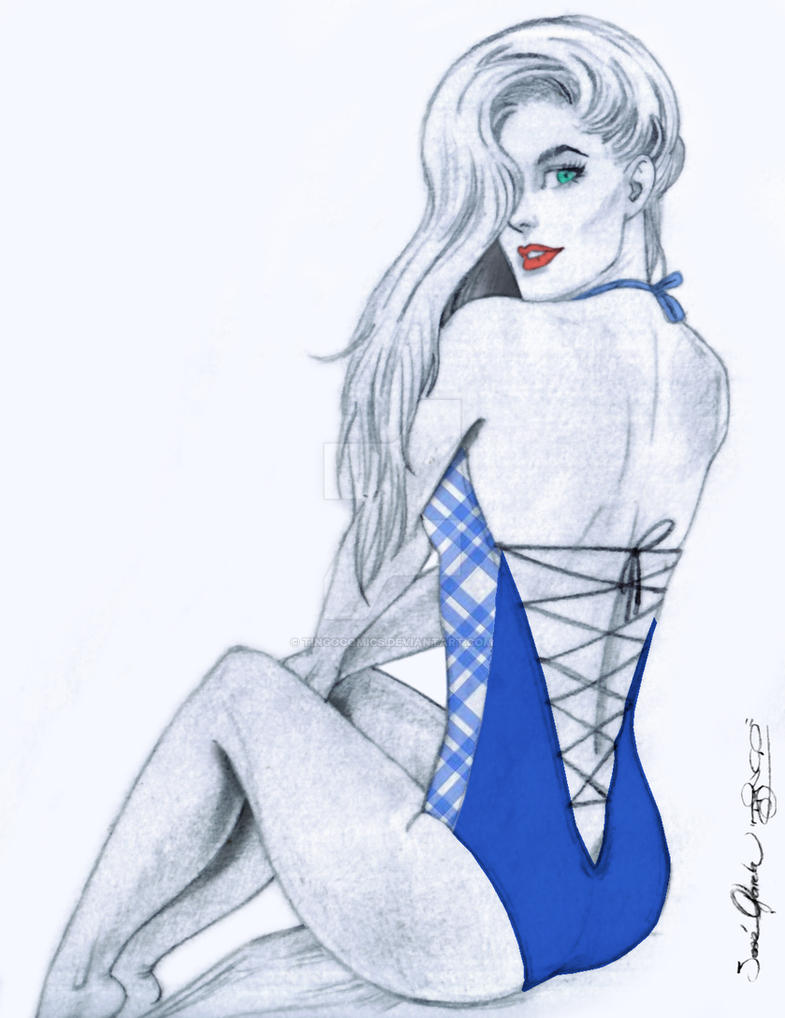 Bluegirl by tingocomics
