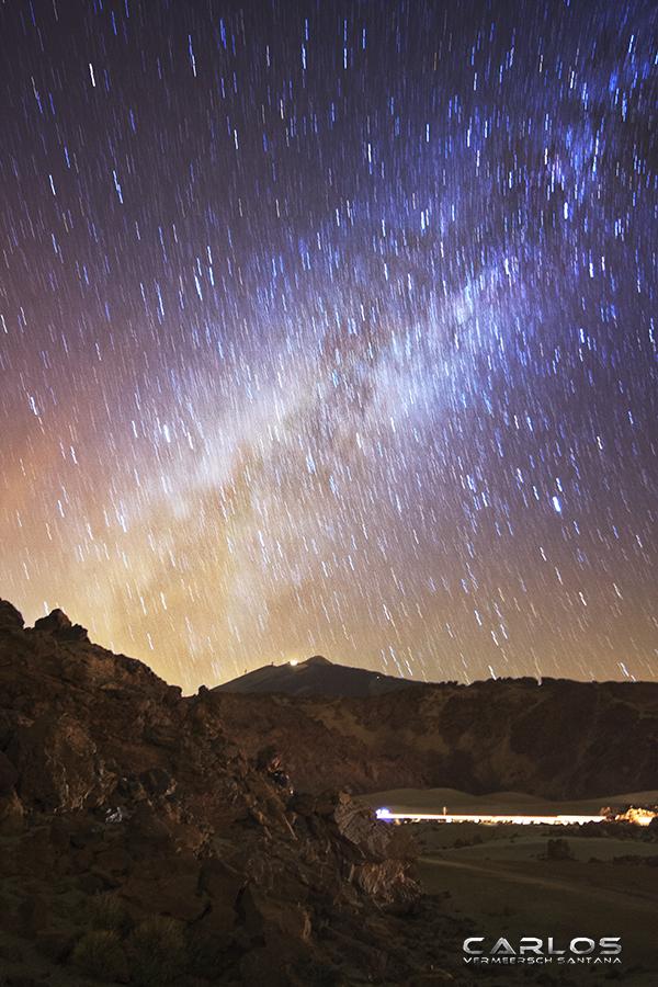 The Milky Way over Las Canadas del Teide by Solrac1993