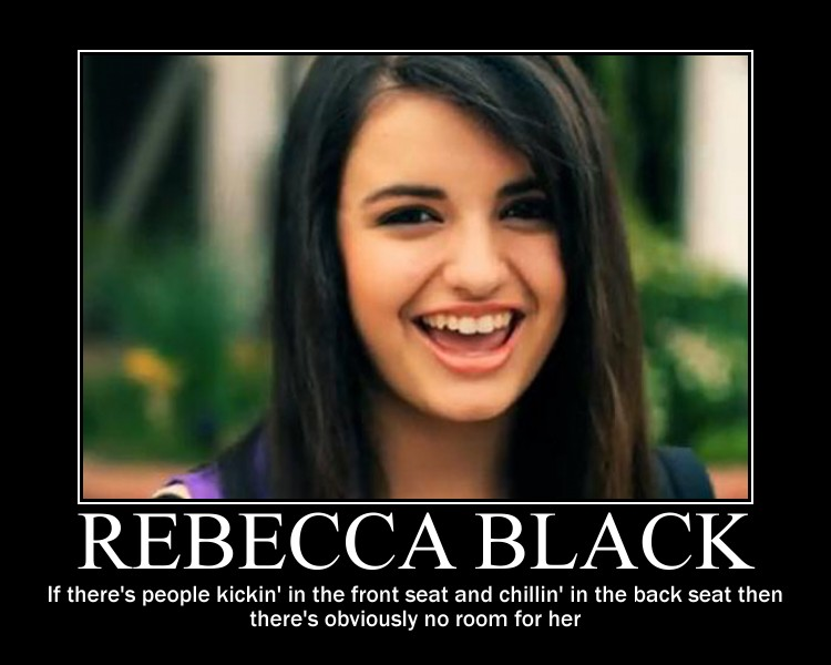 rebecca black friday essay Top 10 reasons to hate rebecca black interactive top ten list at thetoptens® vote, add to, or comment on the top 10 reasons to hate rebecca black.