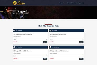 MU2zen.com Mu Legend Zen page screenshot by mu2zen