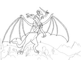 Dragon Rider - Lines by lover-of-the-Drow