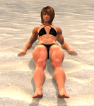 Megan out for a suntan
