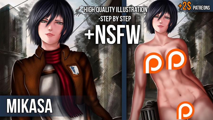 Mikasa NSFW Preview by Dave-Navarro