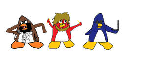 Death Grips as club penguin style