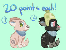 Adopts - 20 points each! by peristeronic