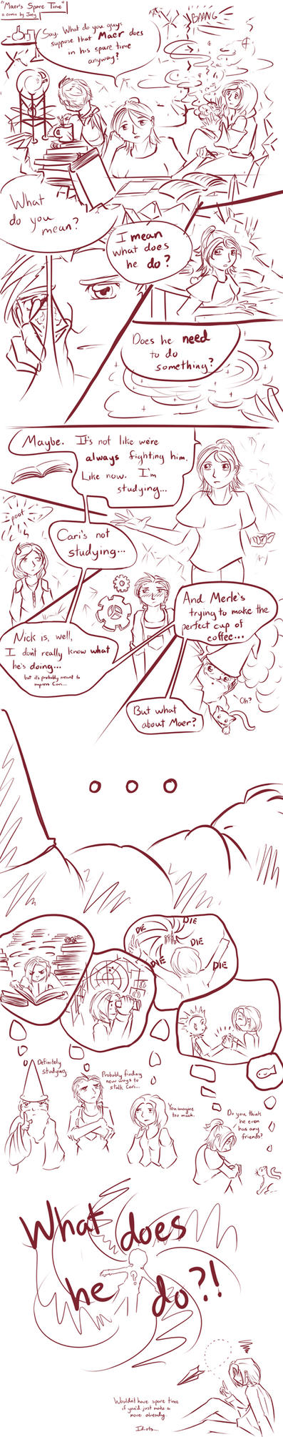 Maer's free time by just-joey