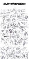 100 Hand Challenge (Hand Studies)