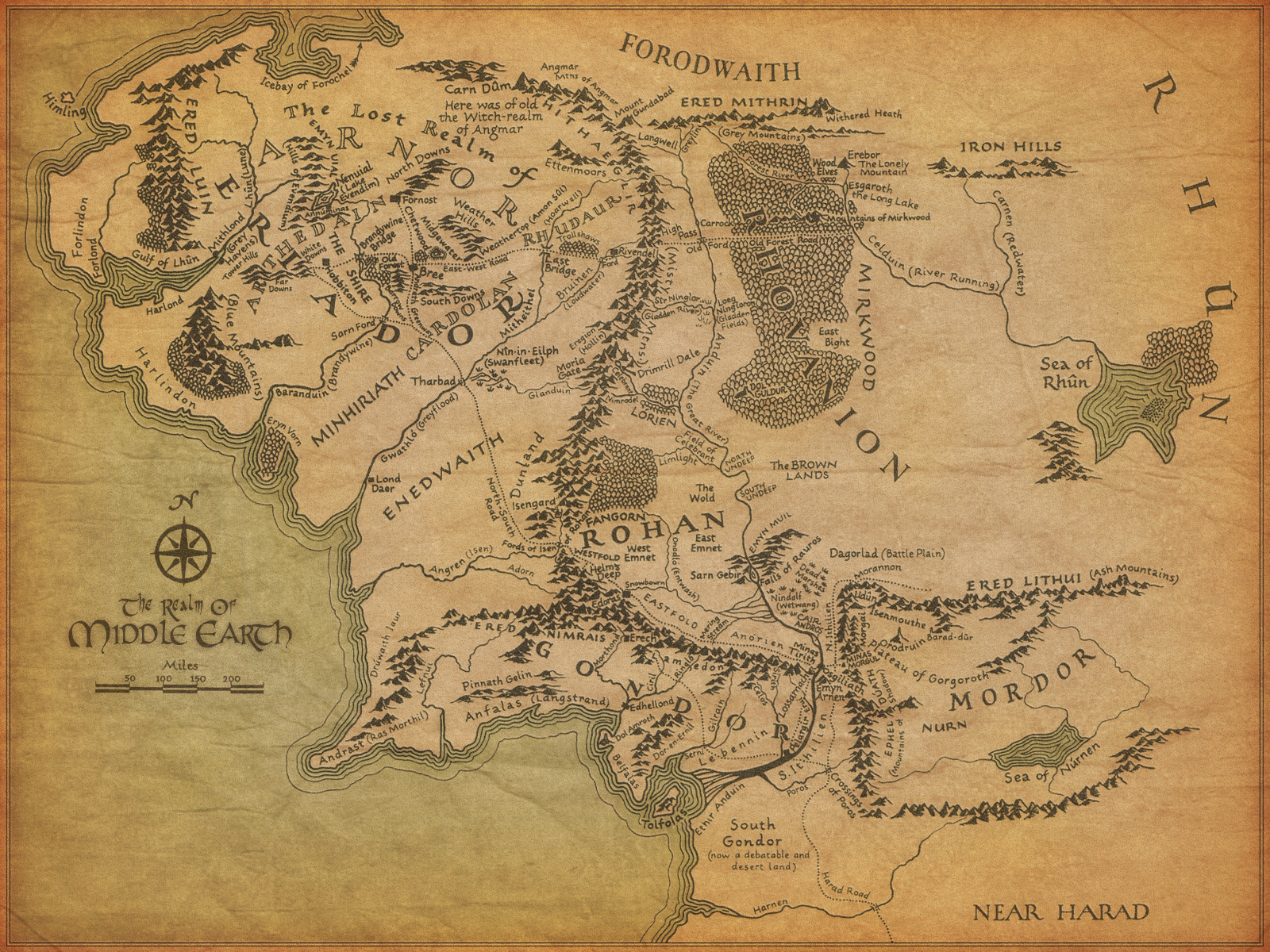 Map of Middle Earth by Jonothing on DeviantArt