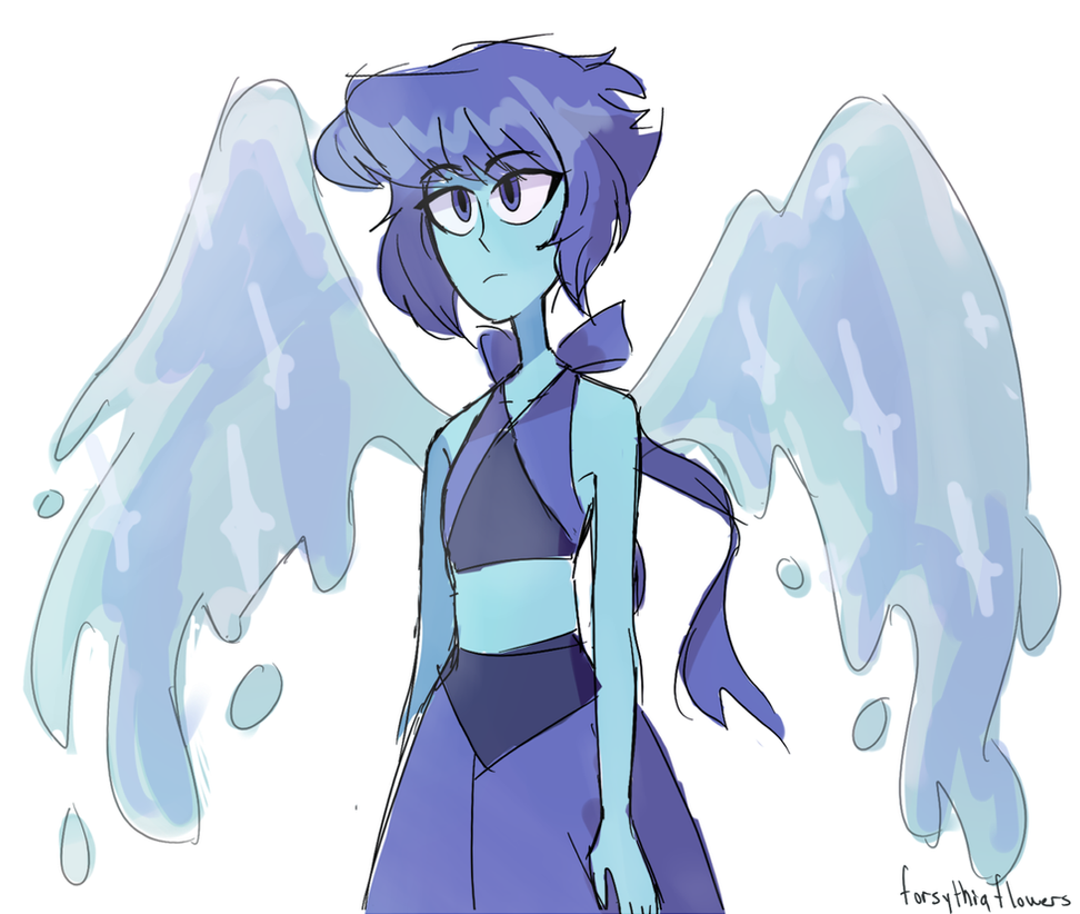 i feel bad if i dont post something every few days so have this really quick doodle! Lapis is really hard to draw :I EDIT: taking this shit out of storage to see my improvement hhhffjjkgkh