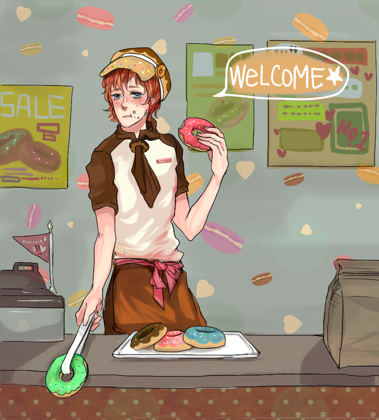 Donuts clerk by bbcchu