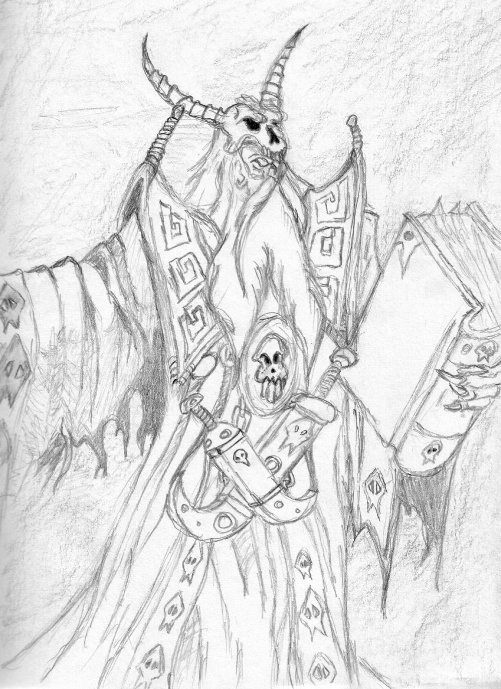 Warcraft 3 Necromancer by Namelessv1