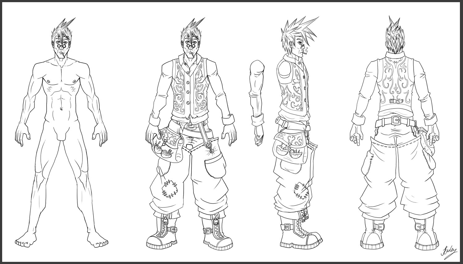 It's just a picture of Dramatic Character Template Drawing