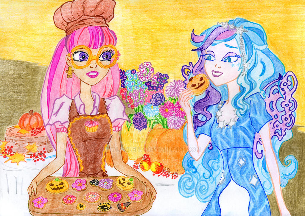 Ever After High - October flowers by Wladlena