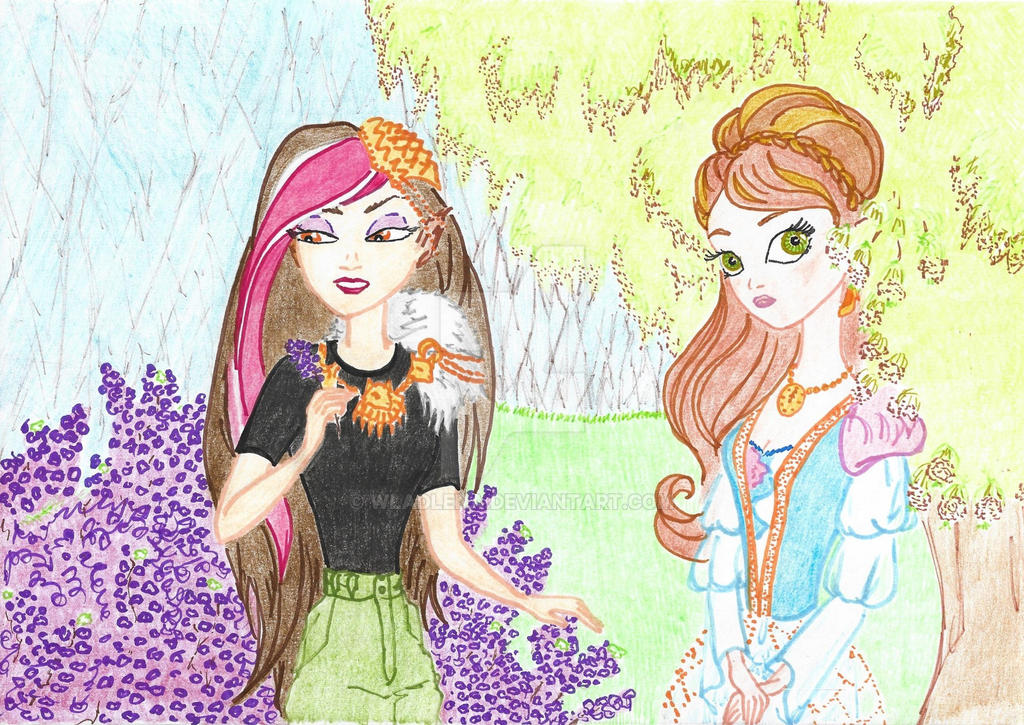 Ever After High - April flowers by Wladlena